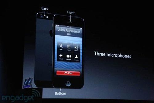 ไมโครโฟน 3 จุด ใน iphone5
