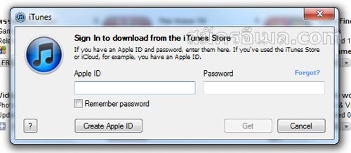หลังจากกดแล้วจะมีหน้าต่างขึ้นมาด้วยให้กดที่ Create Apple ID